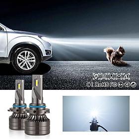 2pcs H7 LED Headlight Bulb 60W High Power 6,000LM 6000K Cool White CSP Chips Conversion Kit Adjustable Beam