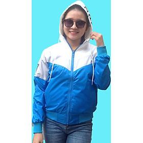 Áo khoác gió nữ phối 3 màu, vải dù mỏng nhẹ, tiện lợi, thích hợp đi chơi, đi du lịch, đi phượt