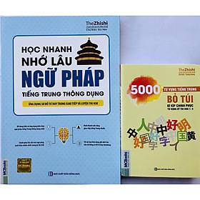 Sách - Combo Học Nhanh Nhớ Lâu Ngữ Pháp Tiếng Trung Thông Dụng + 5000 Từ Vựng Tiếng Trung tặng kèm giấy nhớ MT