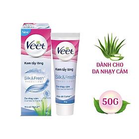 Kem Tẩy Lông Dành Cho Da Nhạy Cảm VEET Silk & Fresh Sensitive Tuýp 50g