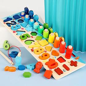 Đồ chơi phát triển kĩ năng tổng hợp - Câu cá, lắp ghép, nhận biết số đếm ( Từ 1-3 tuổi)