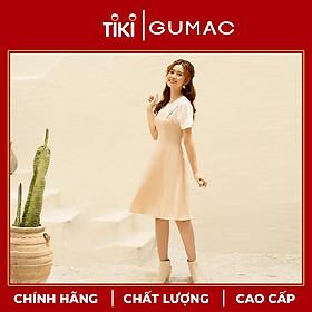 Đầm yếm nữ thiết kế caro dáng xòe 2 lớp GUMAC DA1092 chất liệu cotton mịn