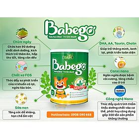 Sữa mát tăng cân, cải thiện biếng ăn và táo bón Babego từ 12 - 36 tháng, 800G-6