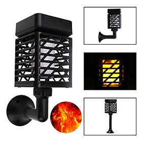 LED Solar Flame Light USB Rechargeable Outdoor Torch Light Landscape Decoration