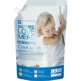 Nước Giặt Dịu Nhẹ Cho Bé Nature Love Mere Cool Fresh Túi 1.3L