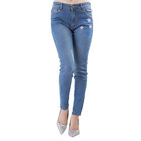 Hình đại diện sản phẩm Quần Jeans Nữ Thêu Hình Ngôi Sao JSTH010