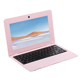 10.1inch Netbook Lightweight Portable Laptop ACTIONS S500 1.5GHz ARM Cortex-A9/Android 5.1/1G+8G/1024*600 Pink US Plug