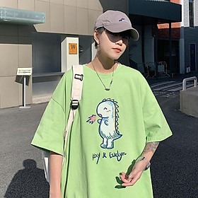 4 Color【M-3XL】 Summer New Style Fashion Dragon Printed Graphic Short Sleeve T-shirt Men Breathable Unisex Half Sleeve T-shirt Oversize Student Short T-shirt Couple Wear