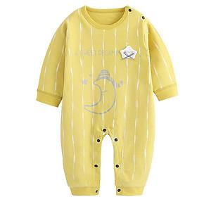 Bộ áo liền quần cho bé sơ sinh chất liệu 100% cotton thun 0108