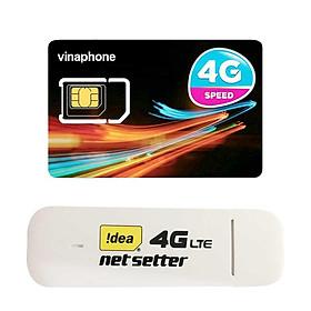 USB 4G Huawei E3372   Dcom 4G cho tốc độ lướt web chóng mặt + Sim 4G Viaphone trọn Gói 12 Tháng   5.5GB/Tháng - Hàng Nhập Khẩu