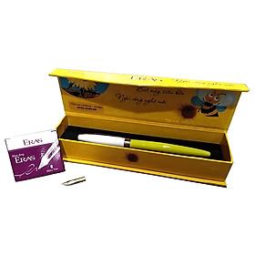 Bút Máy Tặng 6 Ống Mực, 1 Ngòi - Eras - E001 - Màu Vàng
