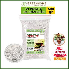 Đá Perlite (đá trân châu)-chất dinh dưỡng, điều hòa nhiệt độ độ ẩm cho đất trồng-thích hợp để trồng hoa, trồng hoa hồng,sen đá-500gr