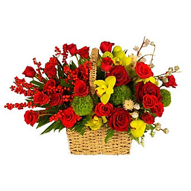 Giỏ hoa tươi - Tài Lộc Khai Chào 3950