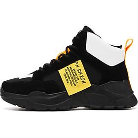 Giày Thể Thao Nam DOL Cao Cổ tăng 7 cm chiều cao phối màu cá tính Ulzzangboy đường phố