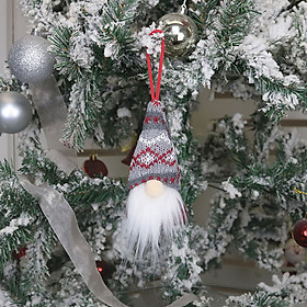 Christmas Ornaments, Plush Wool Xmas/Holiday/Winter Wonderland Party Decoration Ornament Supplies Santa Elf Table