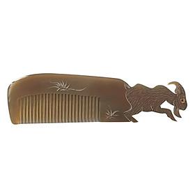 Lược Sừng Bò Châu Phi Cao Cấp L51 Con Dê (Dài 18 x 5,2cm)