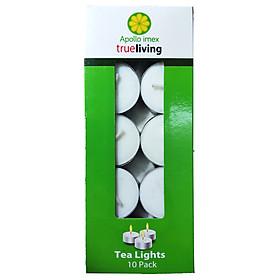 Nến tealight 10 viên không mùi dày 1.3cm cháy từ 3h-4h | Bio Aroma