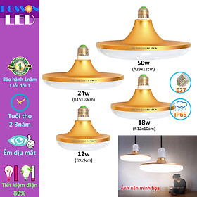 Bóng đèn Led 12w 18w 20w 24w 30w 50w đĩa UFO tiết kiệm điện sáng trắng Posson L-UFO12-50