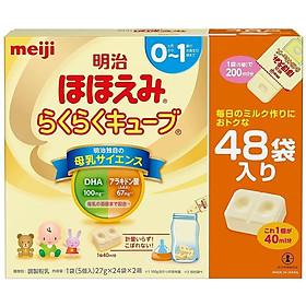 Sữa Meiji Số 0-1 dạng thanh dành cho trẻ từ 0-12 tháng (48 thanh)