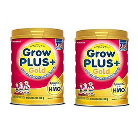 Combo 2 hộp Sữa bột GROW PLUS + GOLD lon 900g có HMO - của NutiFood, dành cho trẻ suy dinh dưỡng, thấp còi