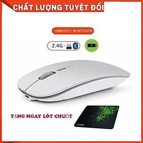 Chuột không dây tự sạc  (Wireless/Bluetooth Mouse Re-chargeable) chuyên dùng cho Máy tính, Laptop, Phone, Tivi