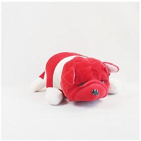 Thú Bông Chó Cún Pitbull Ngộ Nghĩnh (Đỏ)