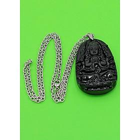 Hình đại diện sản phẩm Vòng cổ Thiên Thủ Thiên Nhãn thạch anh đen 6 cm DITTES8 - Phật bản mệnh tuổi Tý - Sản phẩm phong thủy có kích thước lớn, phù hợp cho nam
