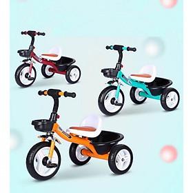 Xe đạp 3 bánh mẫu mới đẹp nhất yên bọc đệm da (giao màu bé gái)