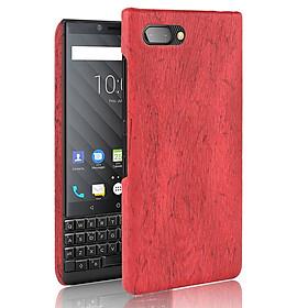 Ốp Lưng Cho Blackberry Key2 Vân Gỗ Màu Đỏ