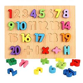 Bảng gỗ chữ số nổi  - Totdepre1096