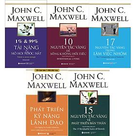 Bộ Sách Hay Nhất Của John C.Maxwell Về Phát Triển Toàn Diện Bản Thân (Gồm 5 Cuốn: 1% & 99% – Tài Năng & Mồ Hôi Nước Mắt + 10 Nguyên Tắc Vàng Để Sống Không Hối Tiếc + 17 Nguyên Tắc Vàng Trong Làm Việc Nhóm + 15 Nguyên Tắc Vàng Về Phát Triển Bản Thân + Phát Triển Kỹ Năng Lãnh Đạo) Tặng Cây Viết Sapphire