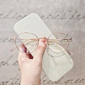 Gọng kính kim loại mắt tròn nam nữ Lilyeyewear càng kính nhẹ nhàng phù hợp mặt nhỏ màu sắc thời trang 29120
