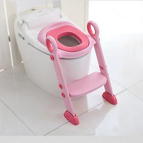 Thang bồn cầu kèm bệ ngồi toilet cho bé tập đi vệ sinh Babyhop