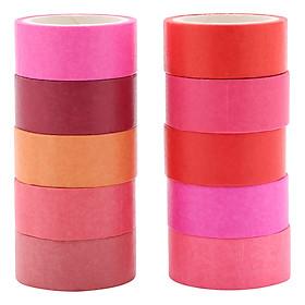 Cuộn Băng Keo Trang Trí Washi Tape Rainbow - Màu Ngẫu Nhiên
