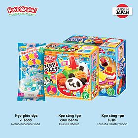 Combo 3 hộp kẹo Popin Cookin đồ chơi sáng tạo ăn được : Cơm Bento + 2 hộp kẹo tự chọn chính hãng