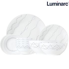Bộ bàn ăn thuỷ tinh Luminarc Diwali Marble 11 món