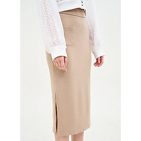 Chân Váy Midi Thun Nữ Nhấn 1 Túi Marc Fashion