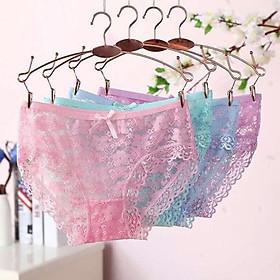 quần lót ren  Freeship từ 50k   combo 10 quần lót nữ chất ren mền mại-  với nhiều màu sắc