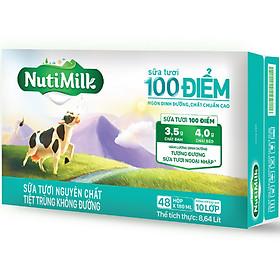 Biểu đồ lịch sử biến động giá bán Thùng 48 hộp NutiMilk Sữa tươi 100 điểm - Sữa tươi nguyên chất tiệt trùng Không đường hộp 180ml