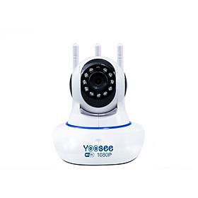 Camera IP Wifi Yoosee 3 Râu 2.0M FullHD 1080P 10 đèn hồng ngoại đàm thoại 2 chiều (Trắng) Hàng Nhập Khẩu