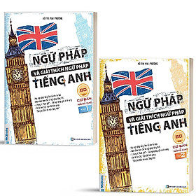 Sách - Combo Ngữ Pháp Và Giải Thích Ngữ Pháp Tiếng Anh Cơ Bản Và Nâng Cao 80/20 (Tập 1 + Tập 2)