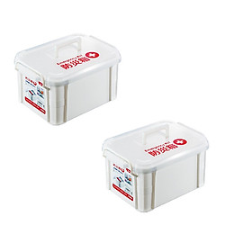 Combo 02 Hộp chứa/đựng vật dụng y tế & đồ cứu thương có tay cầm tiện dụng ( dung tích - 9 lít ) - Hàng nội địa Nhật Bản.