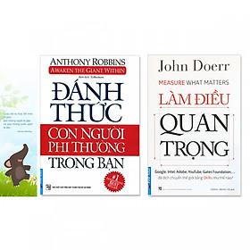 Combo 2 cuốn sách giúp phát triển bản thân:  Làm Điều Quan Trọng, Đánh Thức Con Người Phi Thường Trong Bạn (+ bookmark danh ngôn hình voi)