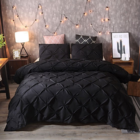 Bedding Sets Duvet Cover New Black Polyester Fiber Bed Sheet Gift 220x240