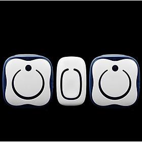 Chuông cửa đôi báo khách bảo vệ nhà cửa không dây cao cấp ,không dùng pin Caz-9809 ( Chống nước-Gồm 1 nút nhấn, 2 chuông - Tặng nút kẹp cao su giữ dây điện cố định )