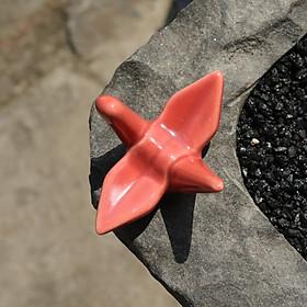 Ceramics Chopsticks Racks Paper Cranes Origami Spoon Forks Rest Holder Shooting Props
