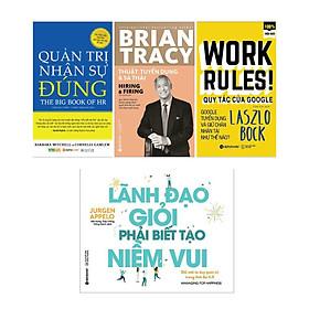 Combo Sách Kinh Tế : Quản Trị Nhân Sự Đúng+  Thuật Tuyển Dụng Và Sa Thải +Quy Tắc Của Google+Lãnh Đạo Giỏi Phải Biết Tạo Niềm Vui ( Tặng Kèm Bookmark Green Life)