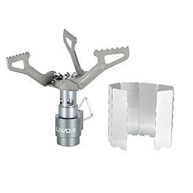 Lixada 25g Lightweight Mini Pocket Titanium Alloy Outdoor Cooking Burner Folding Camping Gas Stove 2700W with 8-Plate