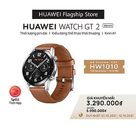 Đồng hồ thông minh Huawei Watch GT2 | Kirin A1 | Thời lượng pin dài | Kiểu dáng thể thao thời thượng | Hàng Phân Phối Chính Hãng