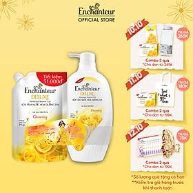 Sữa tắm nước hoa dưỡng da Enchanteur Charming 900gr - tặng túi sữa tắm 450gr SMP 2021